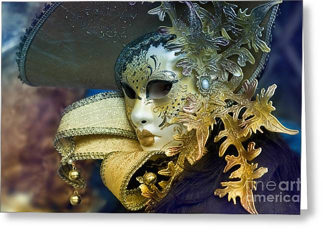 Carnival In Venice 18 Greeting Card by Design Remix
