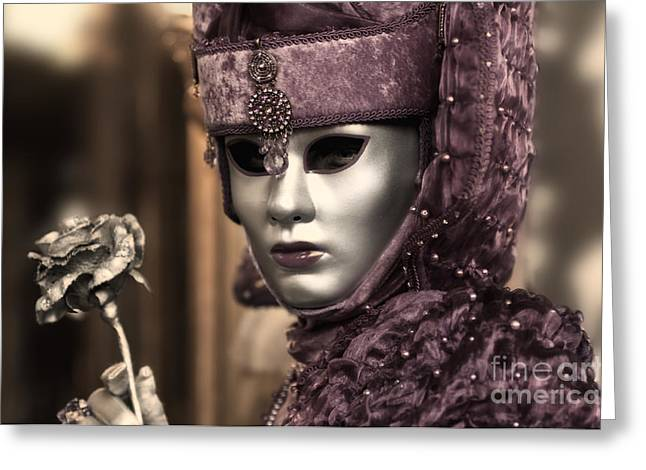 Carnival In Venice 19 Greeting Card by Design Remix