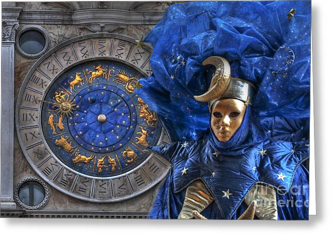 Carnival In Venice 3 Greeting Card by Design Remix