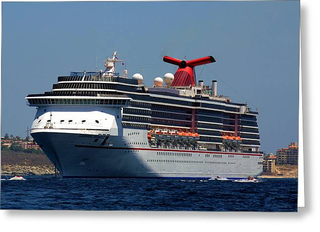 Carnival Miracle Greeting Card by Karen M Scovill