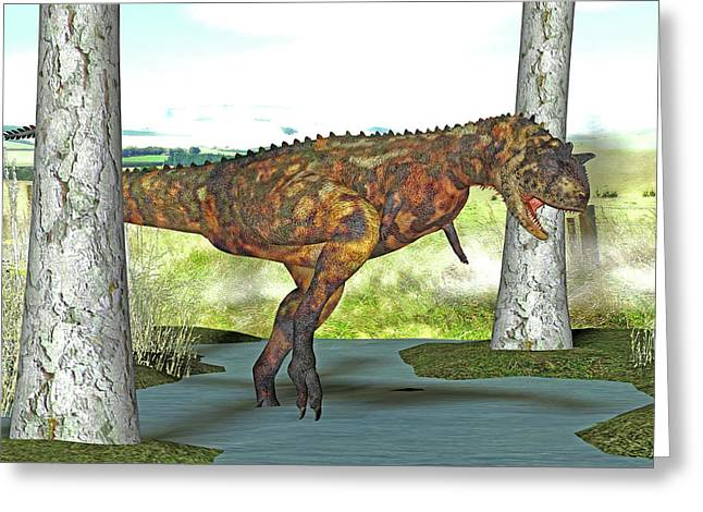 Carnotaurus Dinosaur Greeting Card