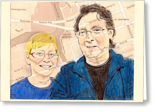 Carol And Gord Of London Greeting Card