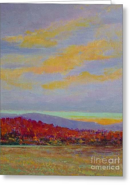 Carolina Autumn Sunset Greeting Card
