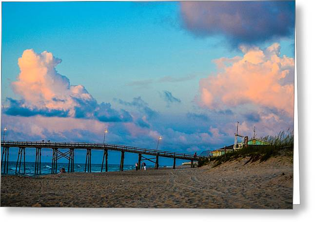 Carolina Blue Over Kure Beach Greeting Card
