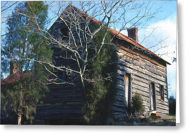 Carolina Cabin Greeting Card by Richard Rizzo
