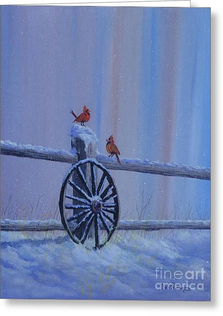 Carolina Cardinals Greeting Card