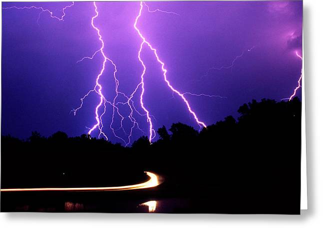 Carolina Electrical Storm Greeting Card by Mike McGlothlen