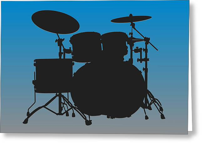 Carolina Panthers Drum Set Greeting Card by Joe Hamilton