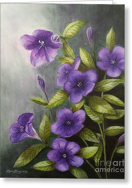 Carolina Wild Petunia Ruellia Caroliniensis Greeting Card