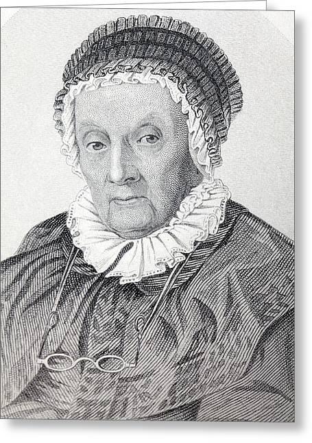 Caroline Herschel Greeting Card by Paul D Stewart