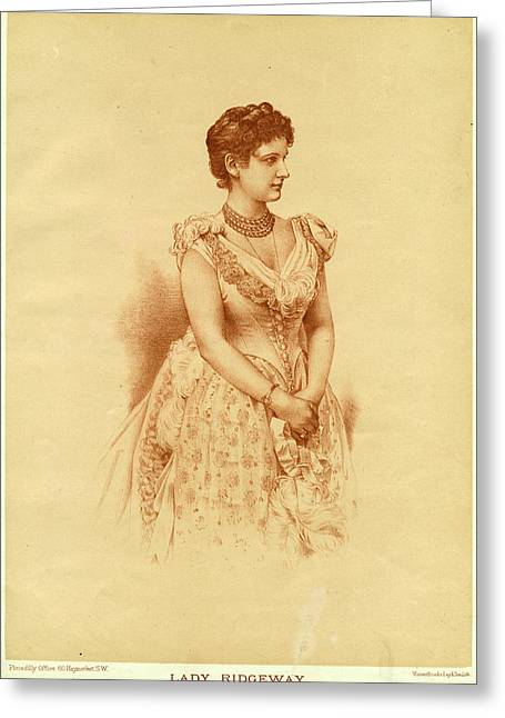 Caroline Lady Ridgeway  Wife Of Sir Greeting Card by Mary Evans Picture Library