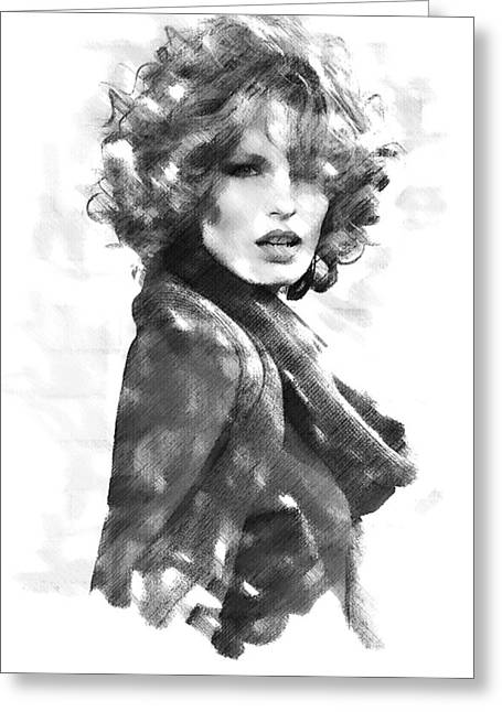 Caroline Winberg Greeting Card by David Blank