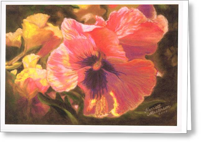 Caroline's Pansies Greeting Card