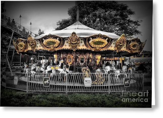 Carousel 1 Greeting Card by September  Stone