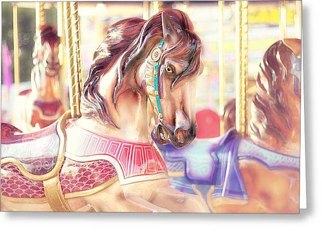 Carousel  Greeting Card by Amy Tyler