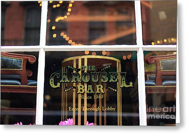 Carousel Bar Greeting Card by Heather Green