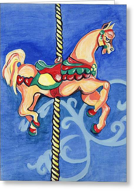 Carousel Dreams Greeting Card