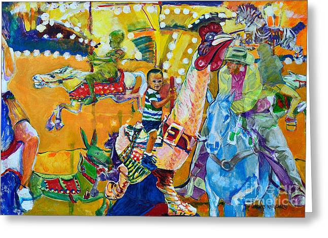 Carousel Dreams Greeting Card by Charles M Williams