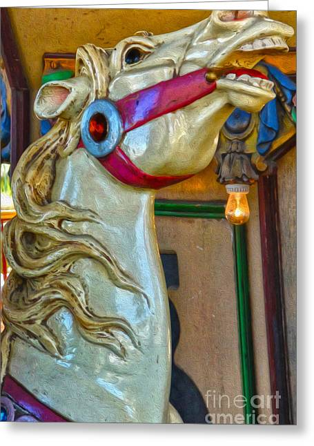 Carousel Horse - 02 Greeting Card by Gregory Dyer