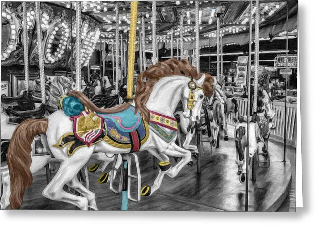 Carousel Horse Equ168125 Greeting Card