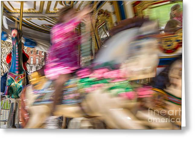 Carousel Greeting Card by Susan Cole Kelly Impressions