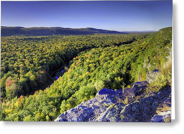 Carp River In Porcupine Mountains Greeting Card by Twenty Two North Photography