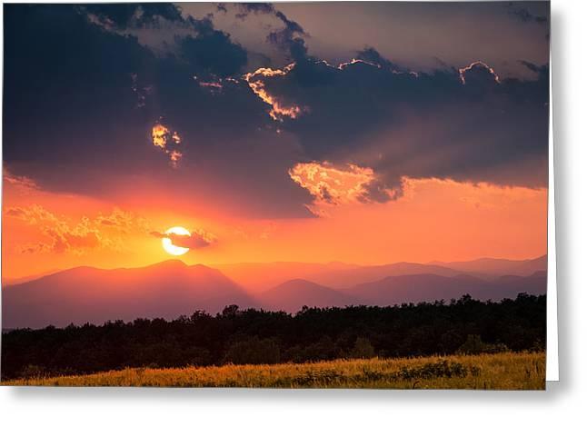 Carpathian Sunset Greeting Card by Mihai Andritoiu