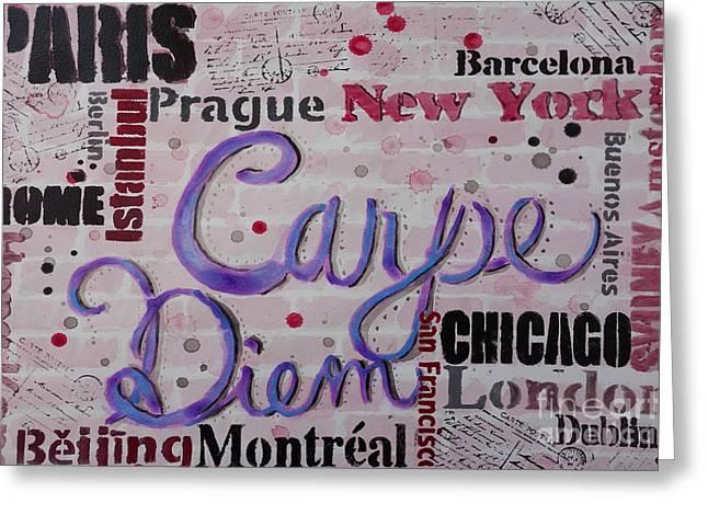 Carpe Diem Greeting Card by Jacqueline Athmann