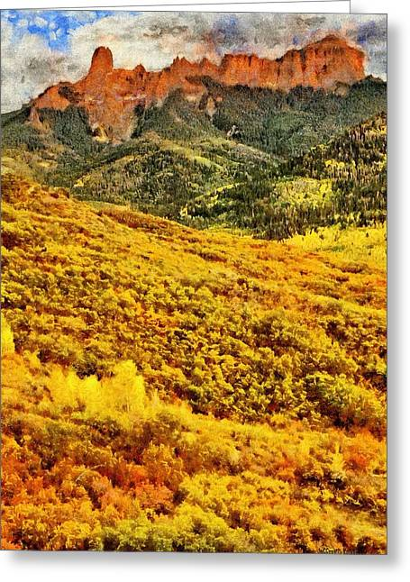 Carpeted In Autumn Splendor Greeting Card by Jeff Kolker