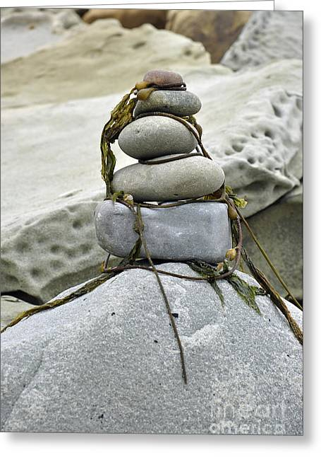 Greeting Card featuring the photograph Carpinteria Stones by Minnie Lippiatt
