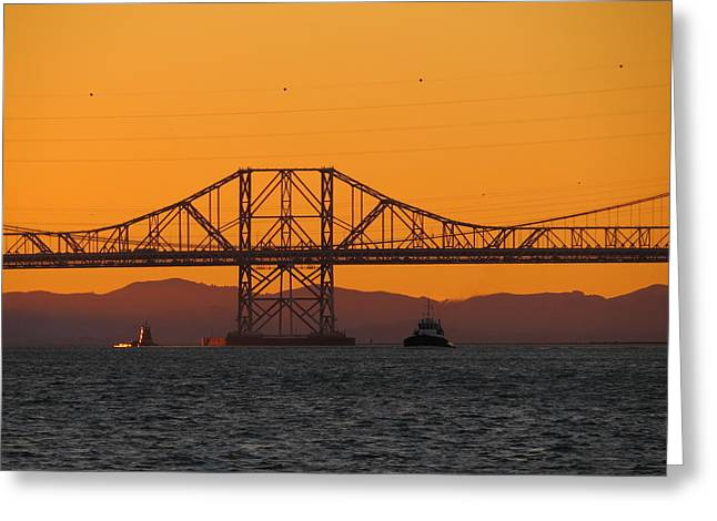 Carquinez Bridge Greeting Card by Brian Maloney