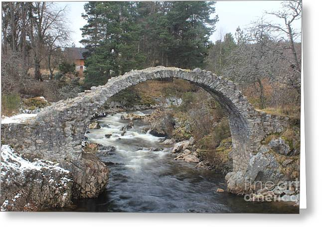 Carrbridge - Scotland Greeting Card by David Grant