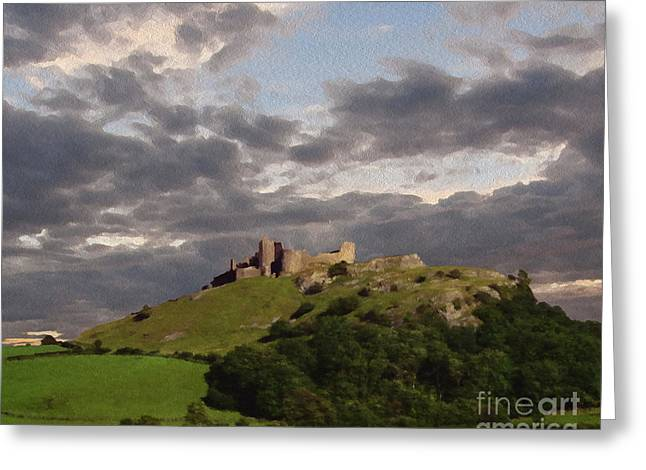 Carreg Cennen Castle North Face Greeting Card by Anthony Forster