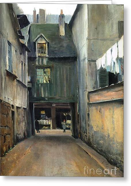 Carrer De Rouen Greeting Card by Roberto Prusso