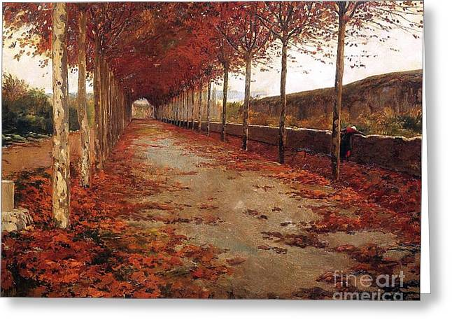 Carretera En Otono Greeting Card by Roberto Prusso