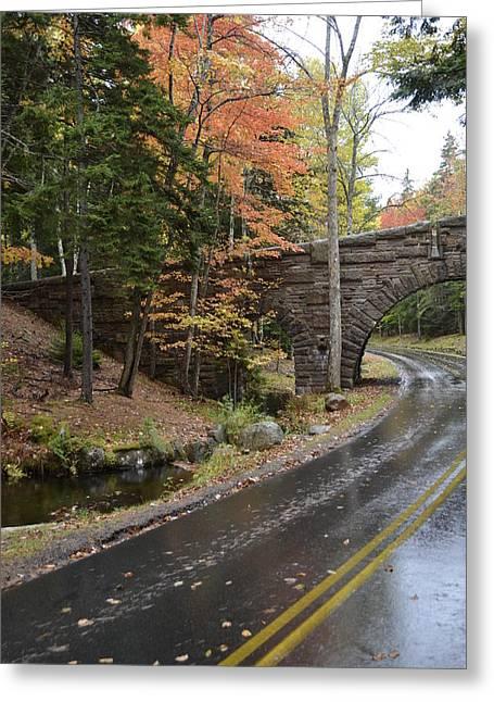 Carriage Bridge In Acadia Greeting Card
