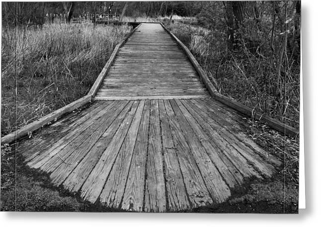 Carriage Hill Boardwalk A Greeting Card by Robert Clayton