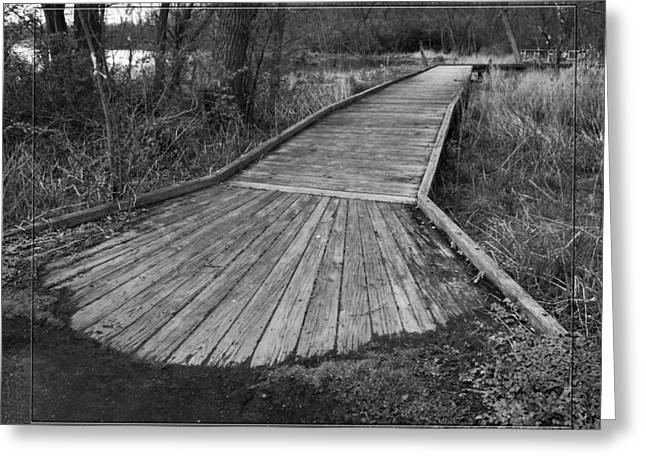 Carriage Hill Boardwalk B Greeting Card by Robert Clayton
