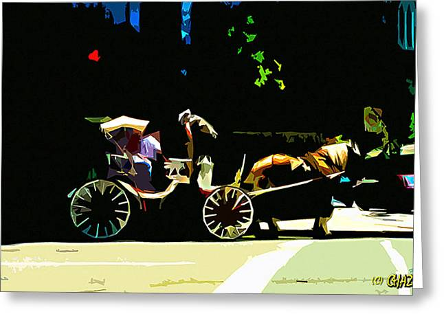 Carriage Ride Greeting Card by CHAZ Daugherty