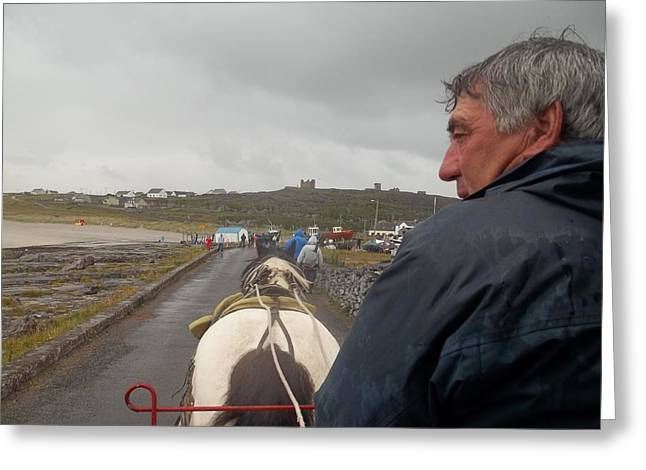 Carriage Ride On Inis Oirr Greeting Card
