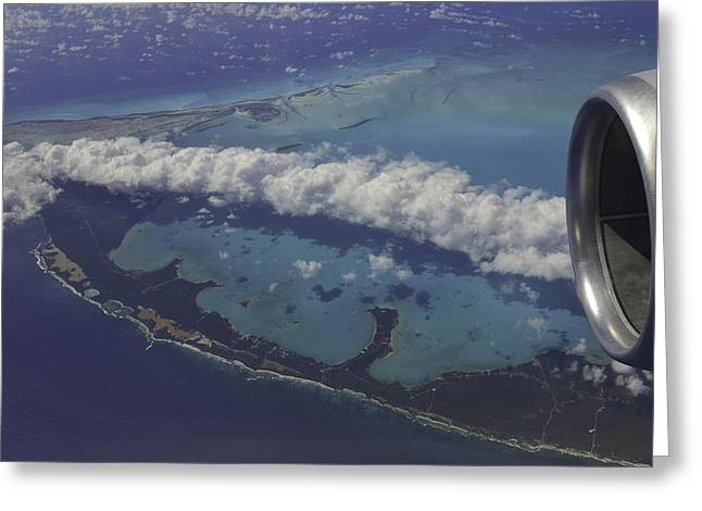 Carribbean Aerial 2 Greeting Card