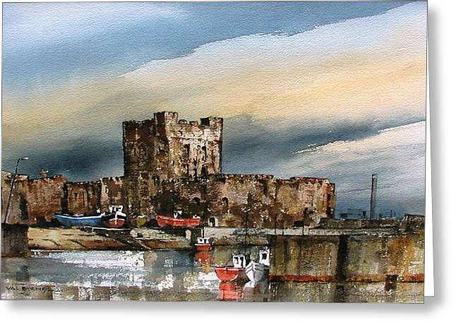 Carrickfergus Castle  County Antrim Greeting Card