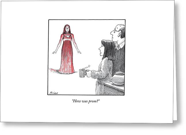 Carrie's Parents Greeting Card by Harry Bliss