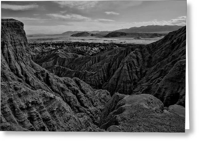 Greeting Card featuring the photograph Carrizo Badlands Bw Nov 2013 by Jeremy McKay