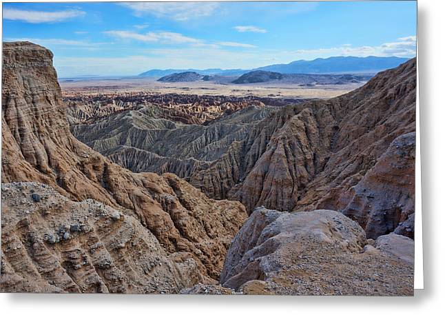 Greeting Card featuring the photograph Carrizo Badlands Nov 2013 by Jeremy McKay