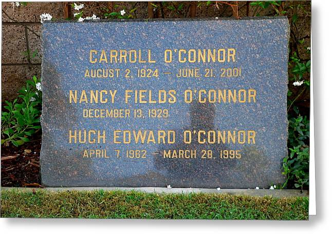 Carroll O'connor Greeting Card by Jeff Lowe