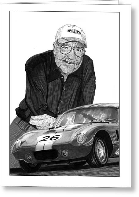 Carroll Shelby    Rest In Peace Greeting Card