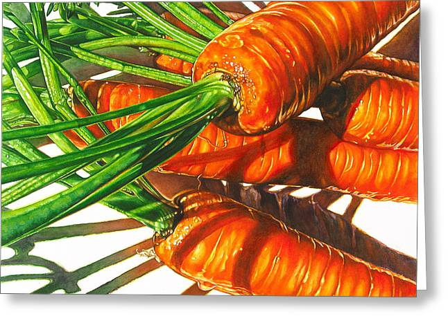 Carrot Top Shadows Greeting Card