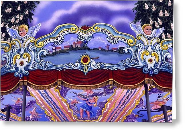 Carrousel Fantasie Greeting Card by Cynthia Wolsfeld