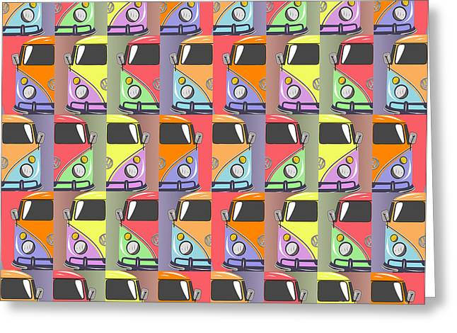 Cars Abstract  Greeting Card by Mark Ashkenazi